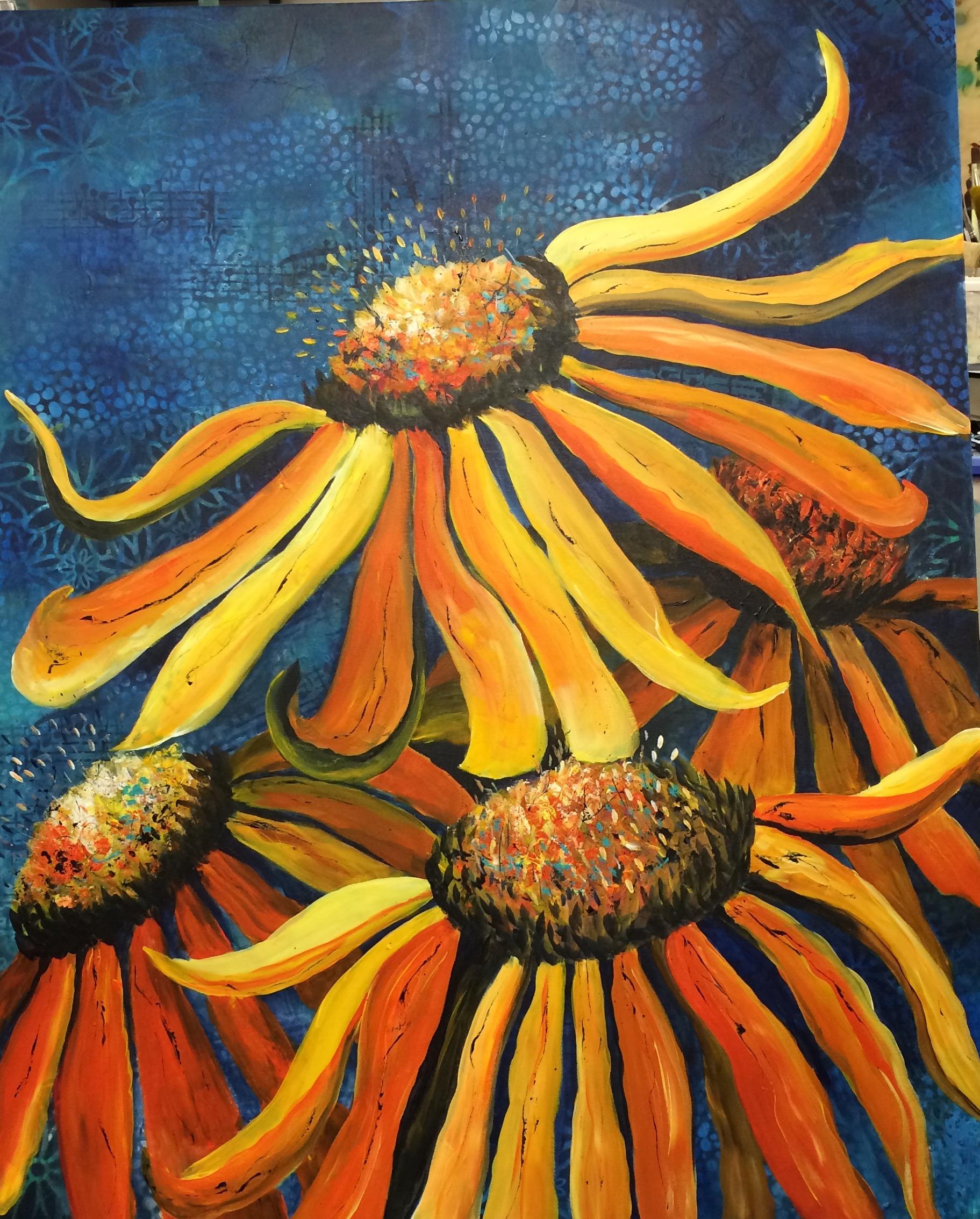 Gule Blomster | Eva Vig