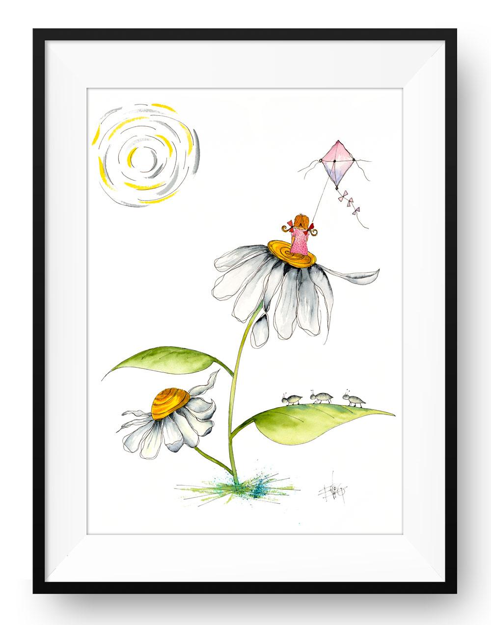 Blomster barn med dragen | Eva Vig