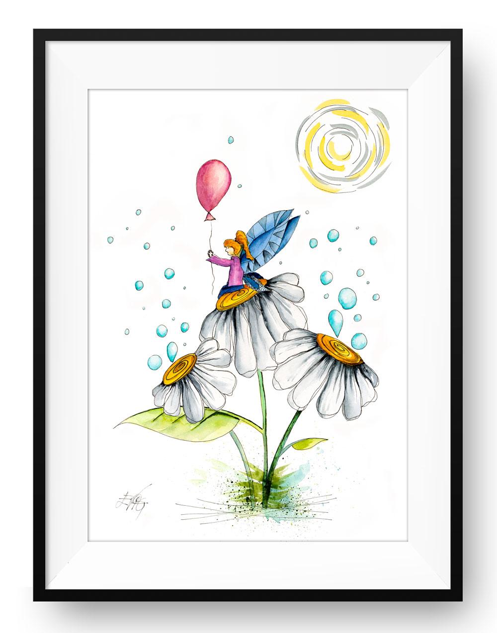 Blomster barn med ballon | Eva Vig