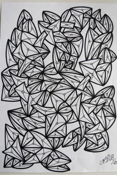 Abstrakt 4 | Tegning