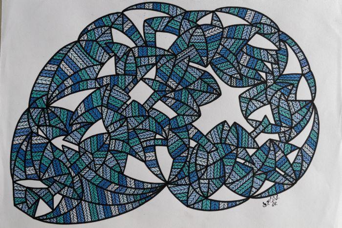 Abstrakt 8   Tegning
