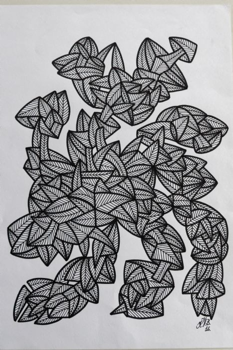 Abstrakt 7   Tegning