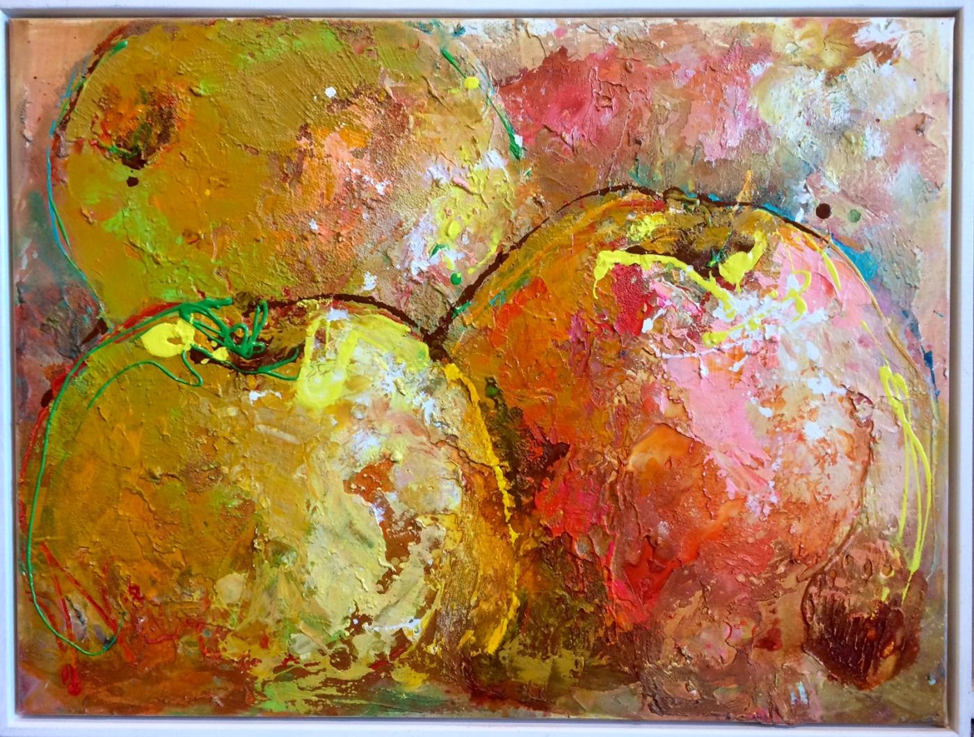 3 æbler | Maleri