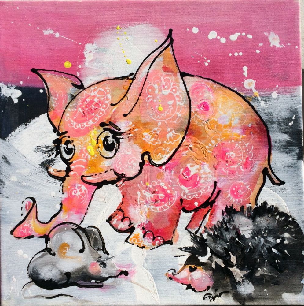 elefant pink | Natalia Fedoseeva Watts