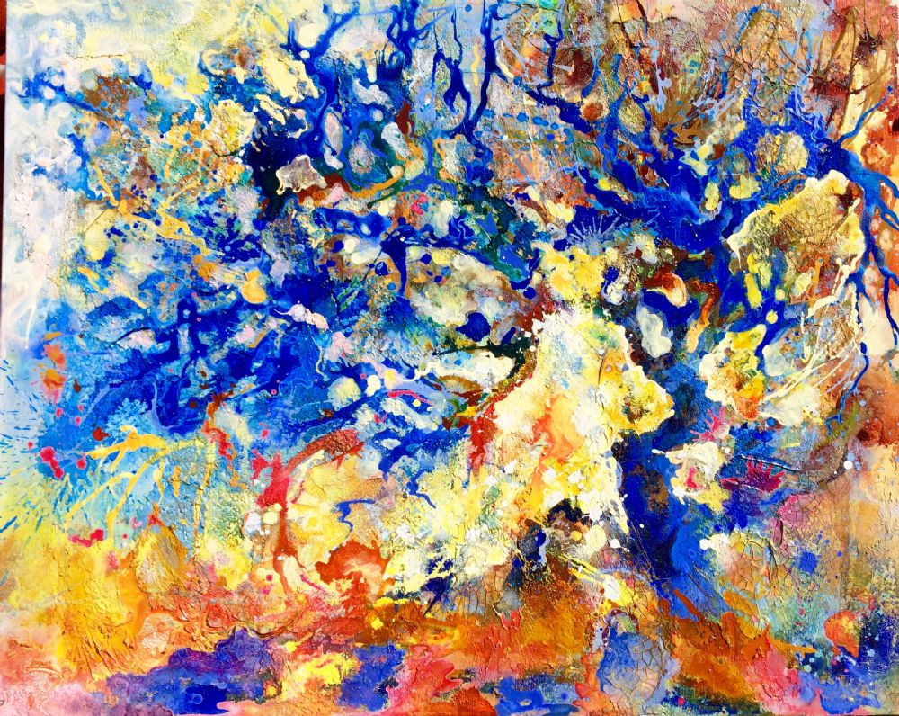 Træ Blå | Maleri