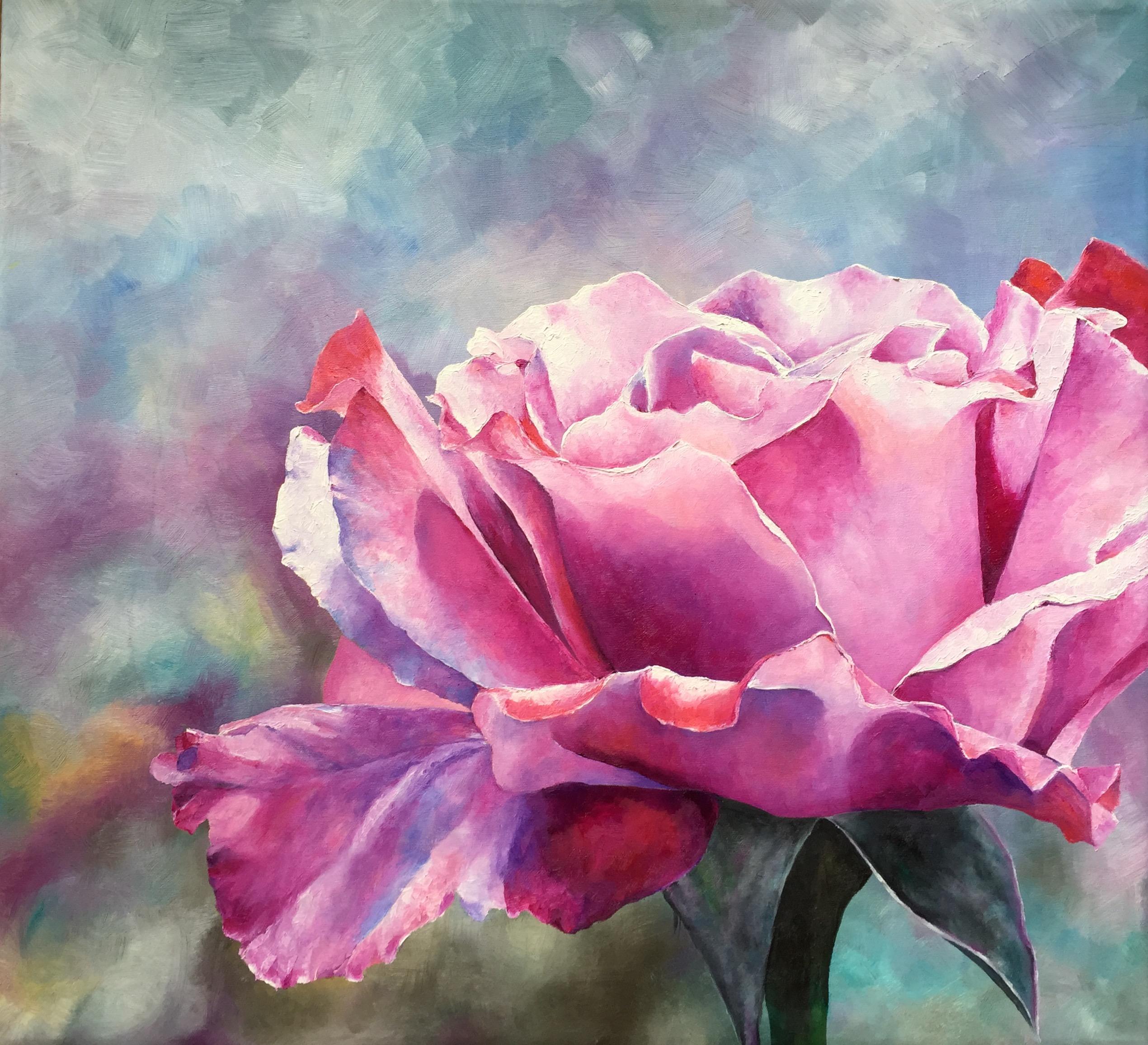 Lyserød rose | Leila Holberg