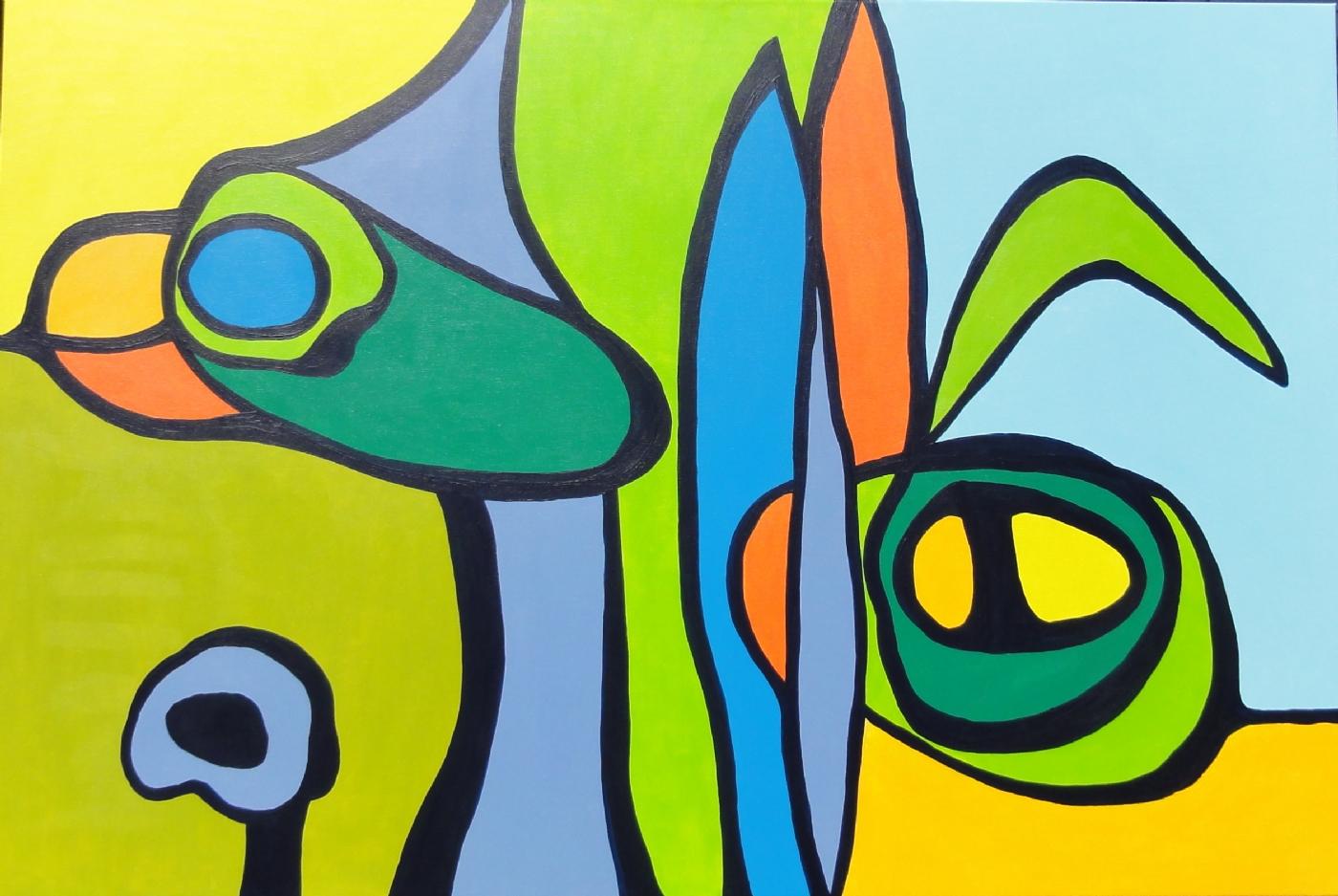 Sofastykker III | Maleri