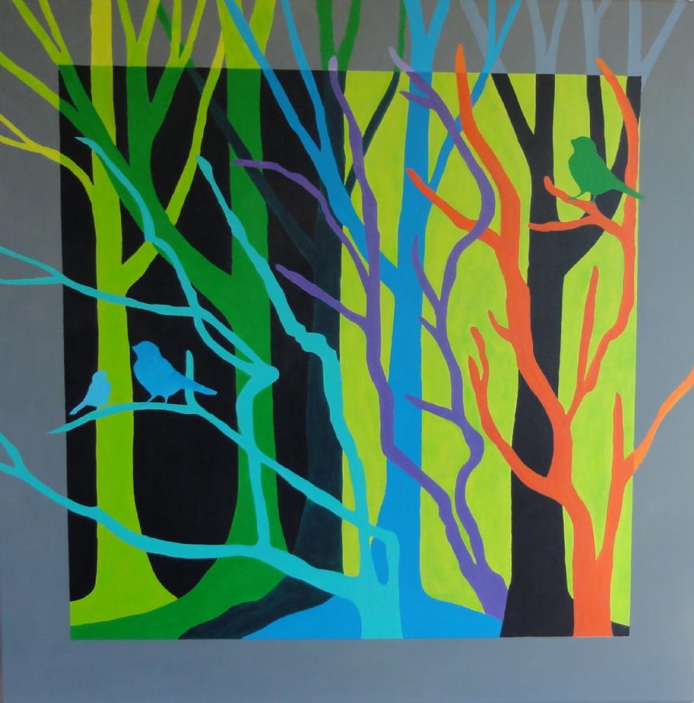 Grønne træer | Maleri