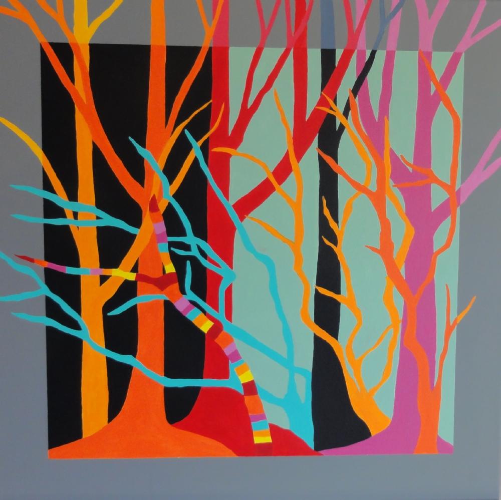 Røde træer | Maleri