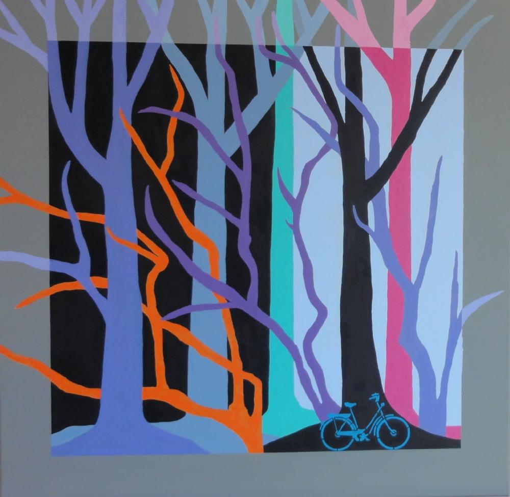 Blå træer | Maleri