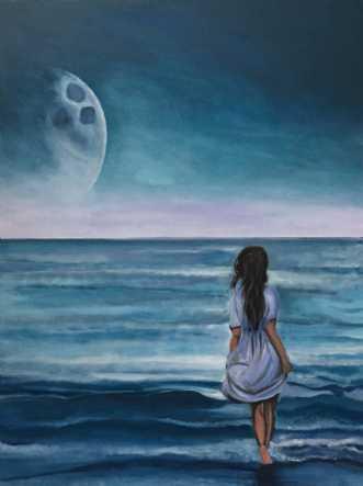 Pigen og manden i månenafSanne Rasmussen
