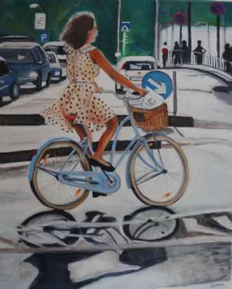 Pigen på den blå cykelafSanne Rasmussen
