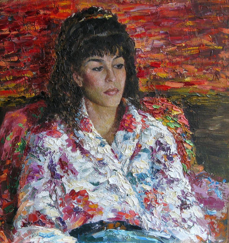 Portræt af en ung dame | Maleri
