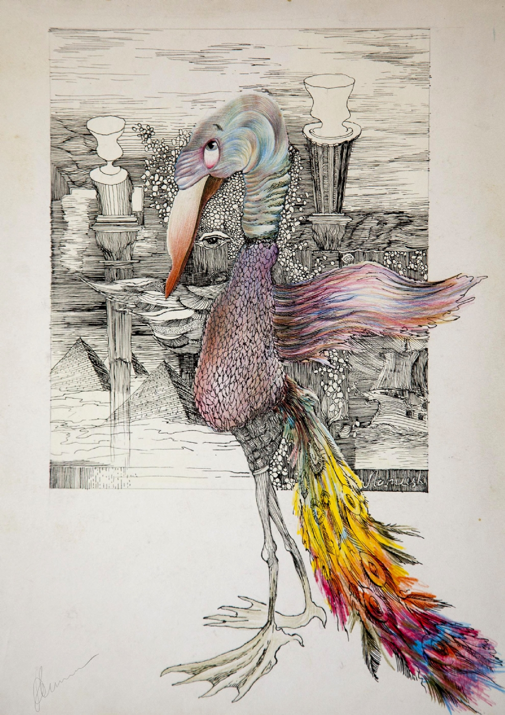 Fuglen | Tegning