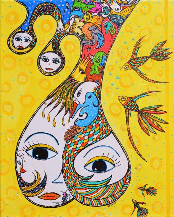 En FantasiTastisk Mor/ A FantasyTastic Mother | Maleri