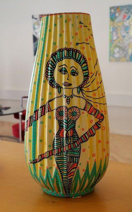 Petronella Abigail - gul vase | Kunst