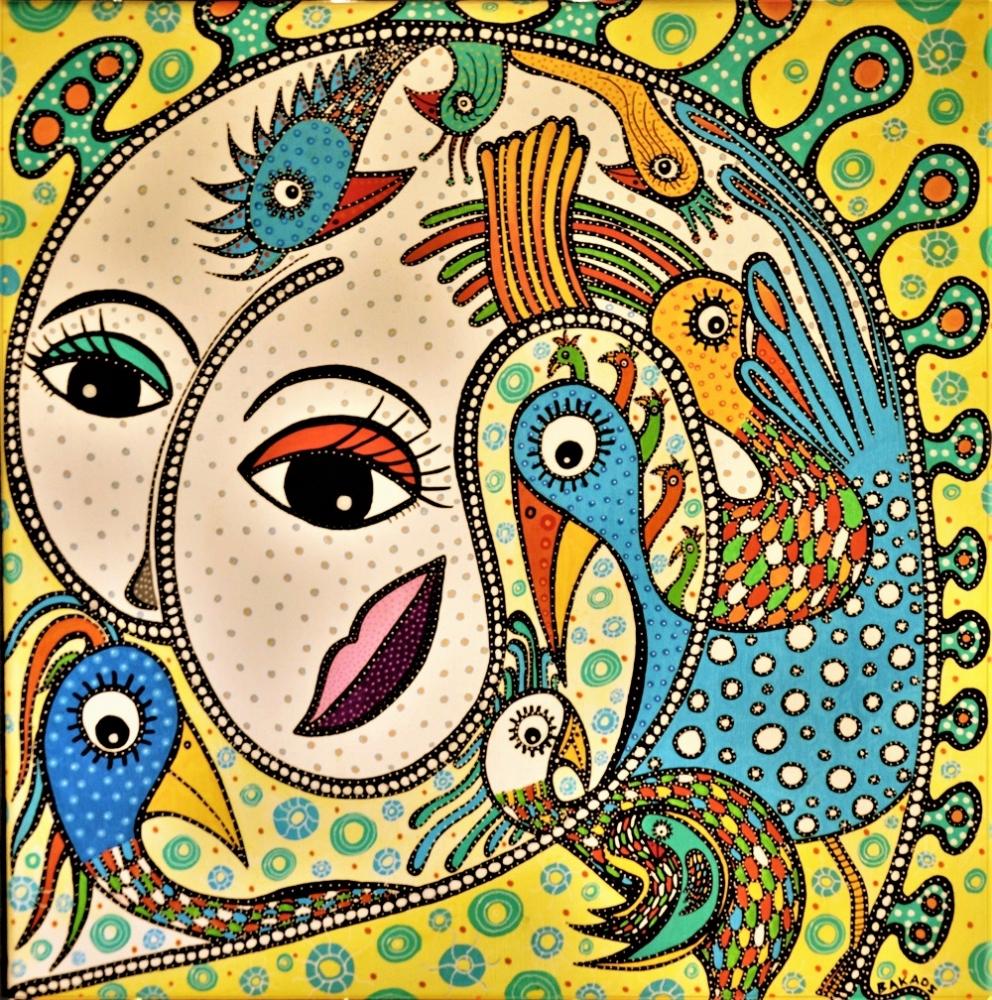 Fuglistisk Abstraktisme | Maleri