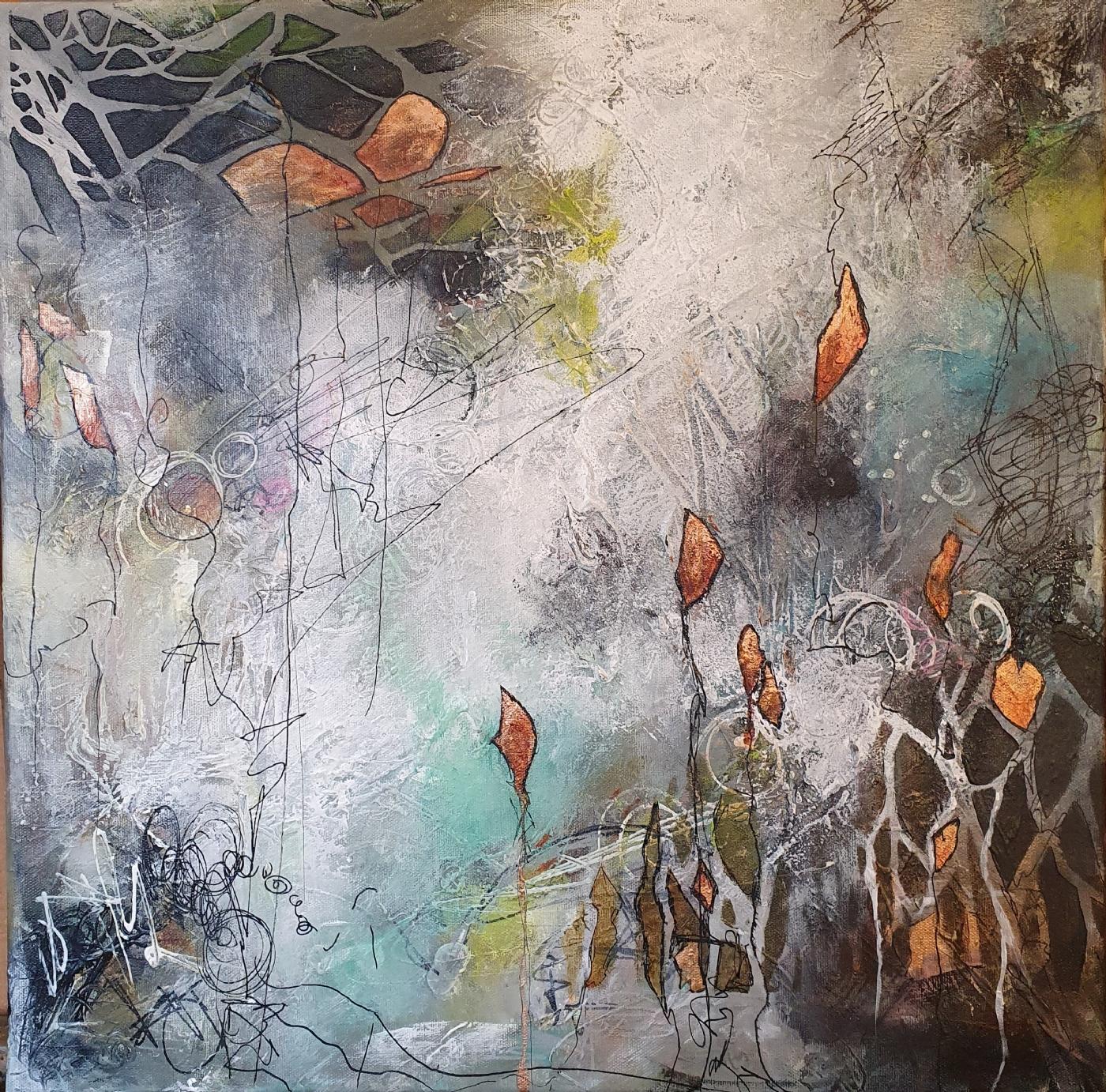 Flowers in the dark   Maleri   Detail 1