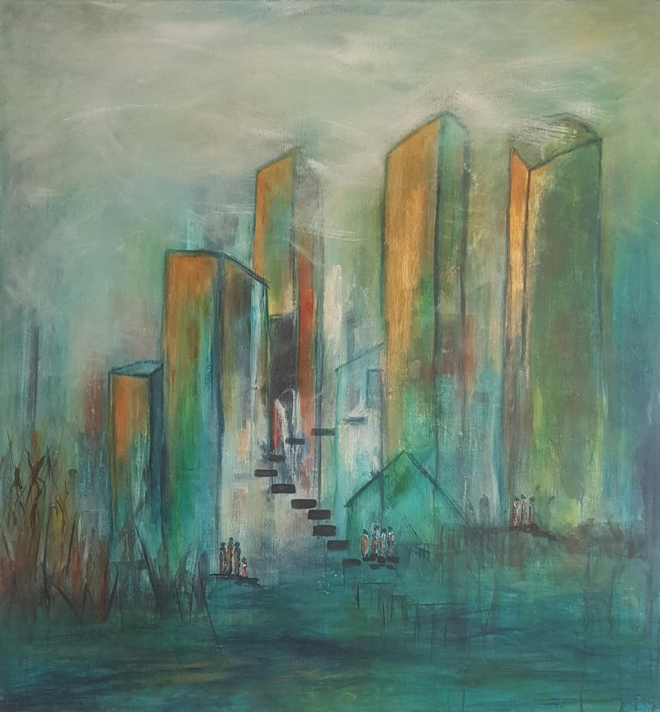 Midnight Town | Maleri | Detail 1