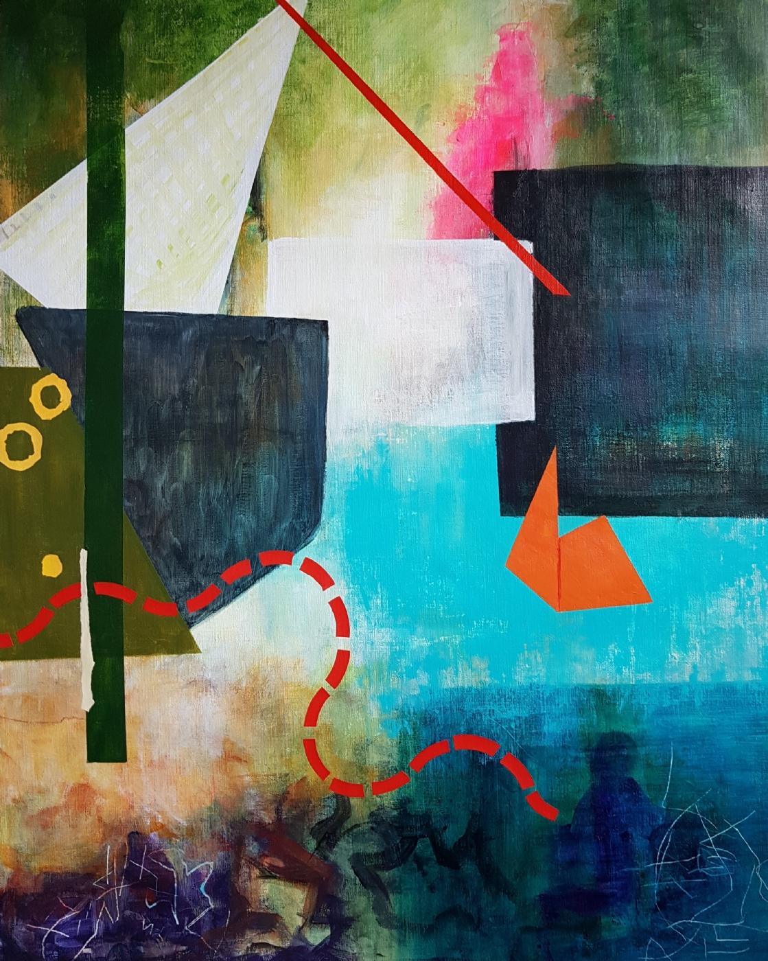 På langfart | Maleri