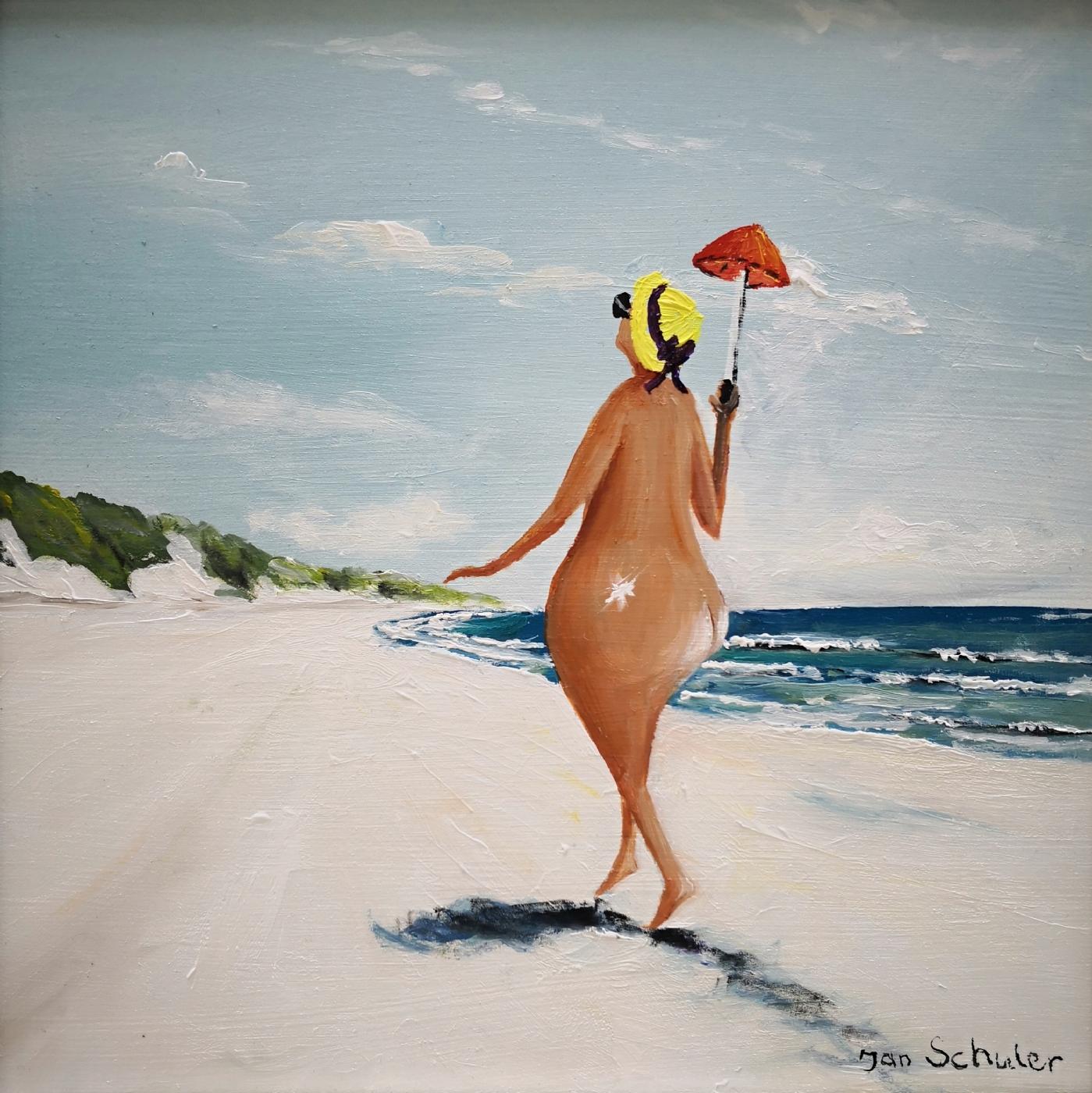 Mette på stranden | Maleri