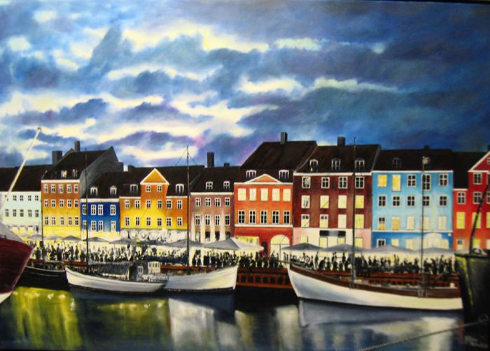 Nyhavn by night | Maleri