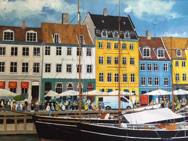 Sommersteming i Nyhavn | Maleri