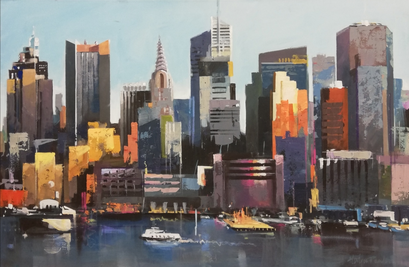 Manhattan, Hudson river | Maleri