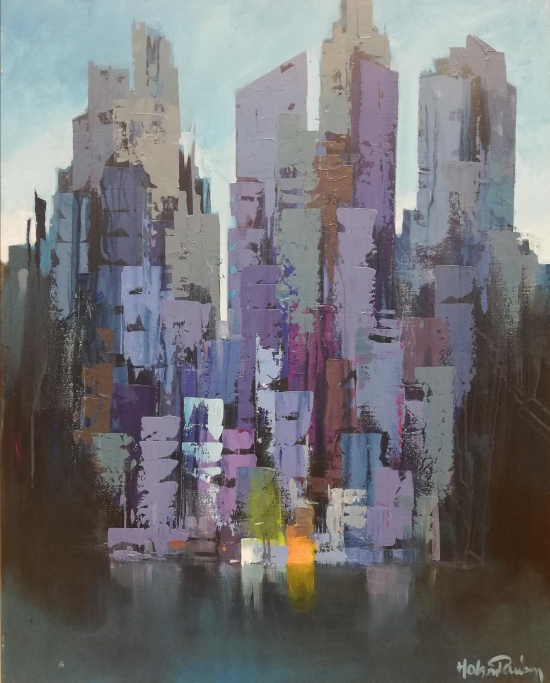 Manhattan, East river skyline | Maleri
