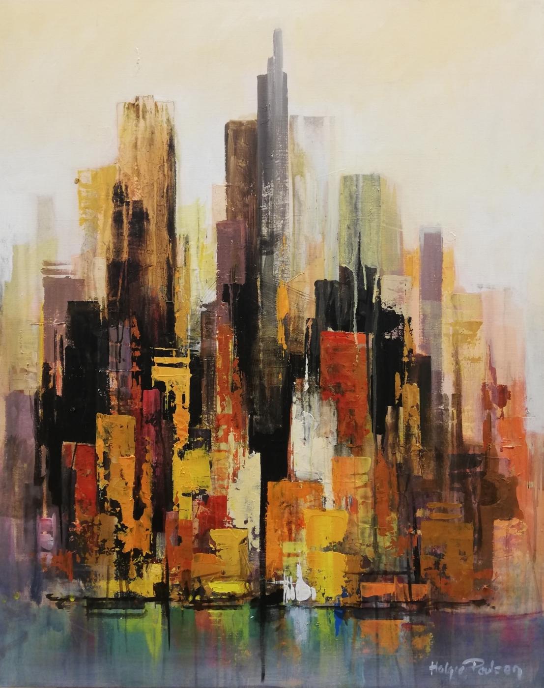 Manhattan, Autum skyline | Maleri