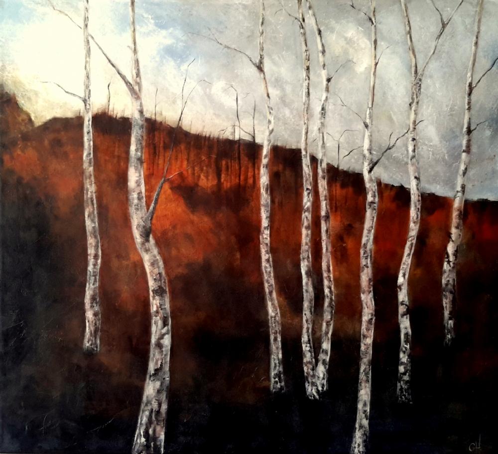 Autumn birch   Maleri