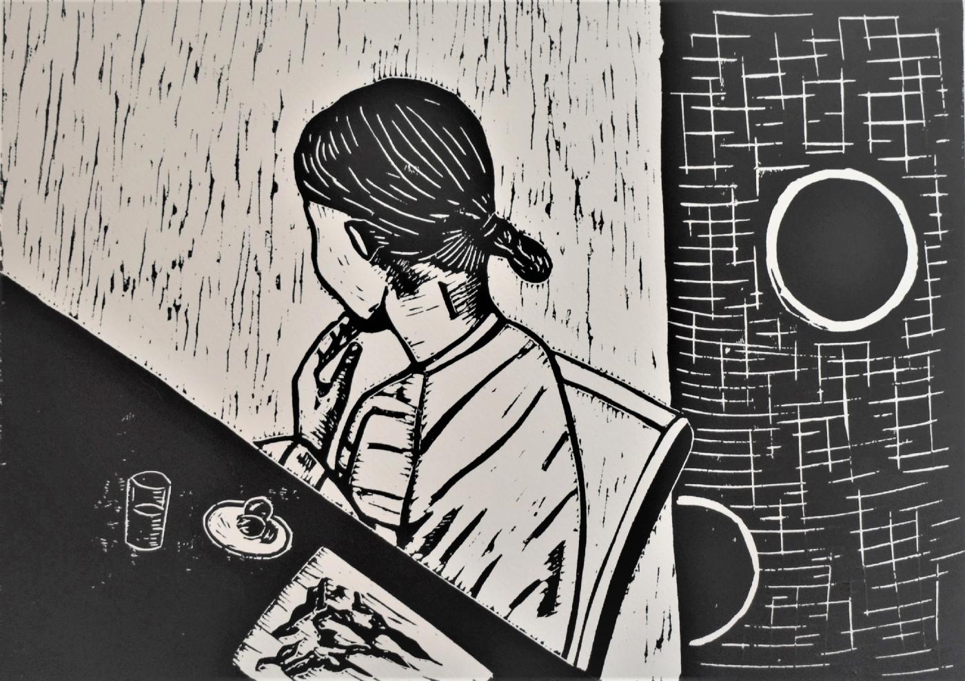 Stille protest | Tegning