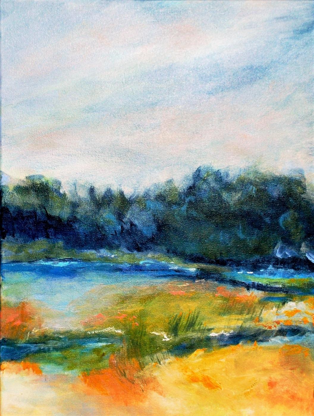 Nr. 395 Når blåt.... | Maleri