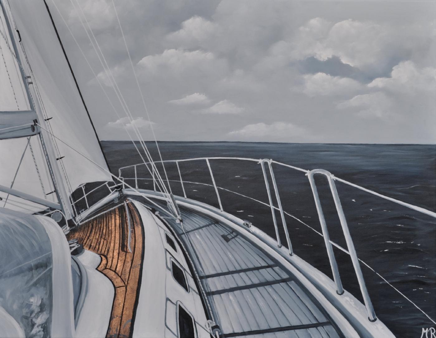 Going to sea nr 3   Maleri