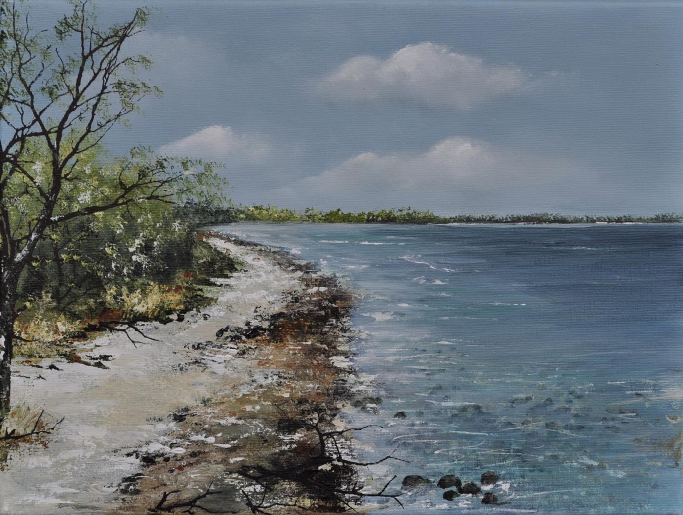 Stien langs vandet | Maleri