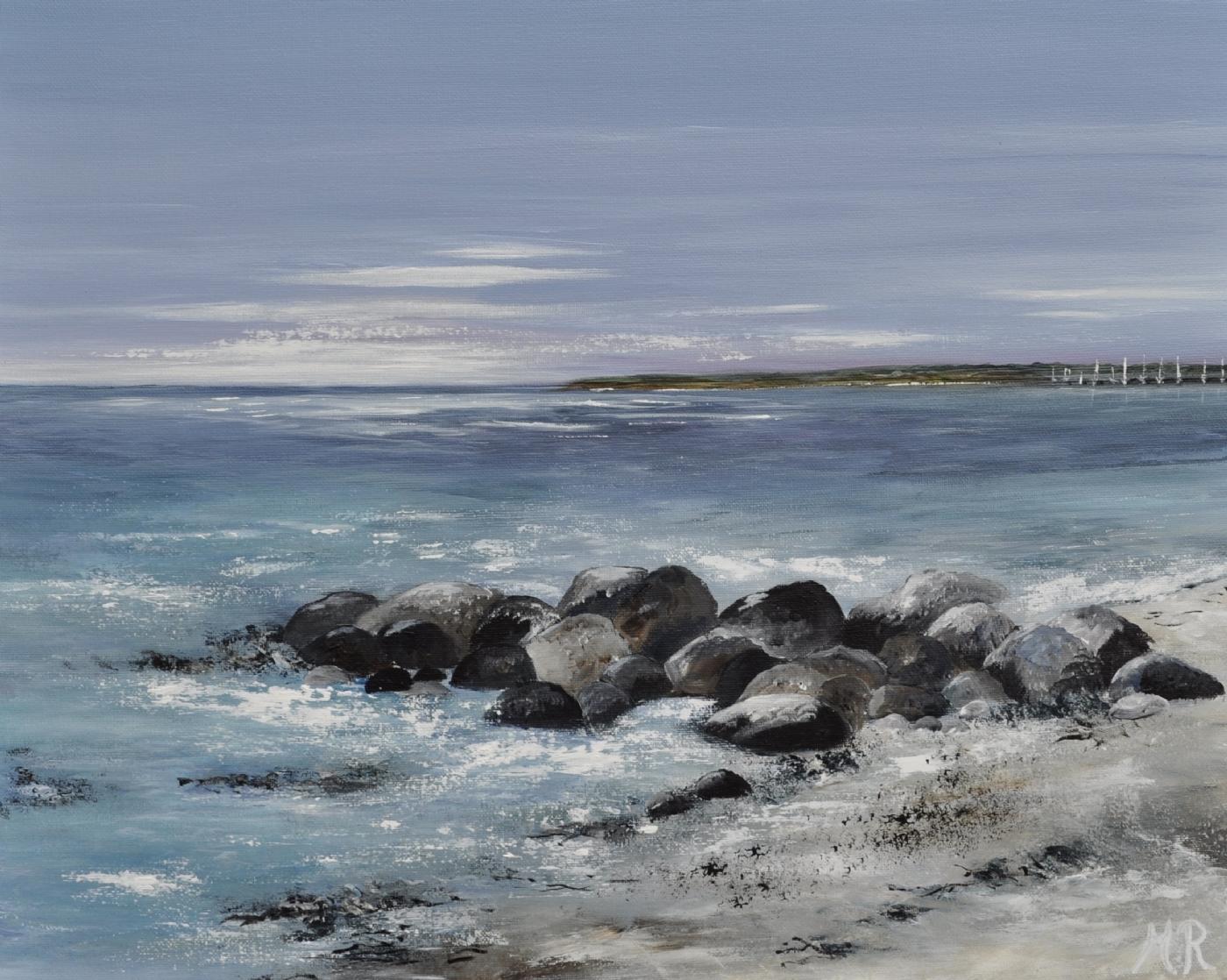 Danske strande nr 5 | Maleri