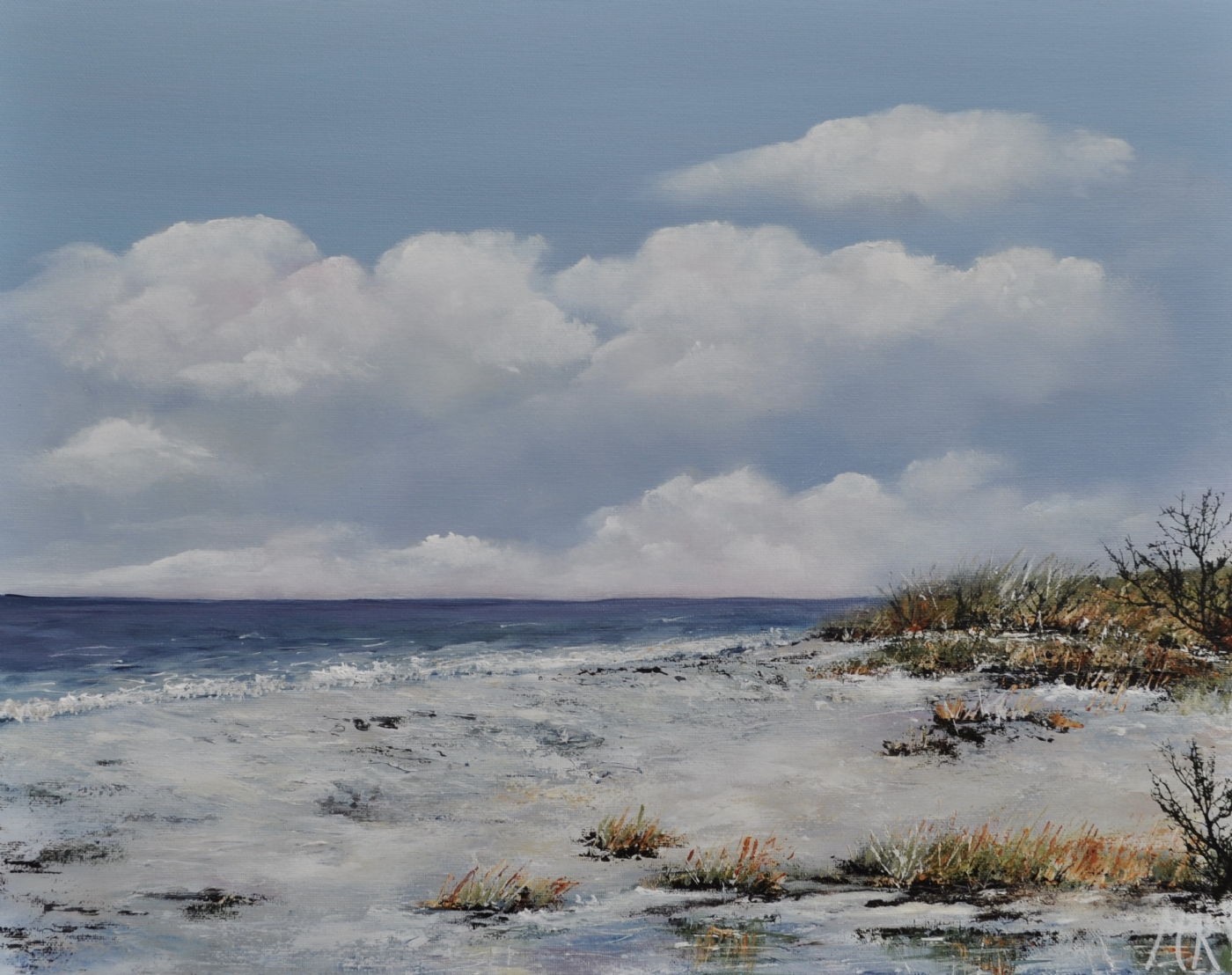 Danske strande nr 4 | Maleri