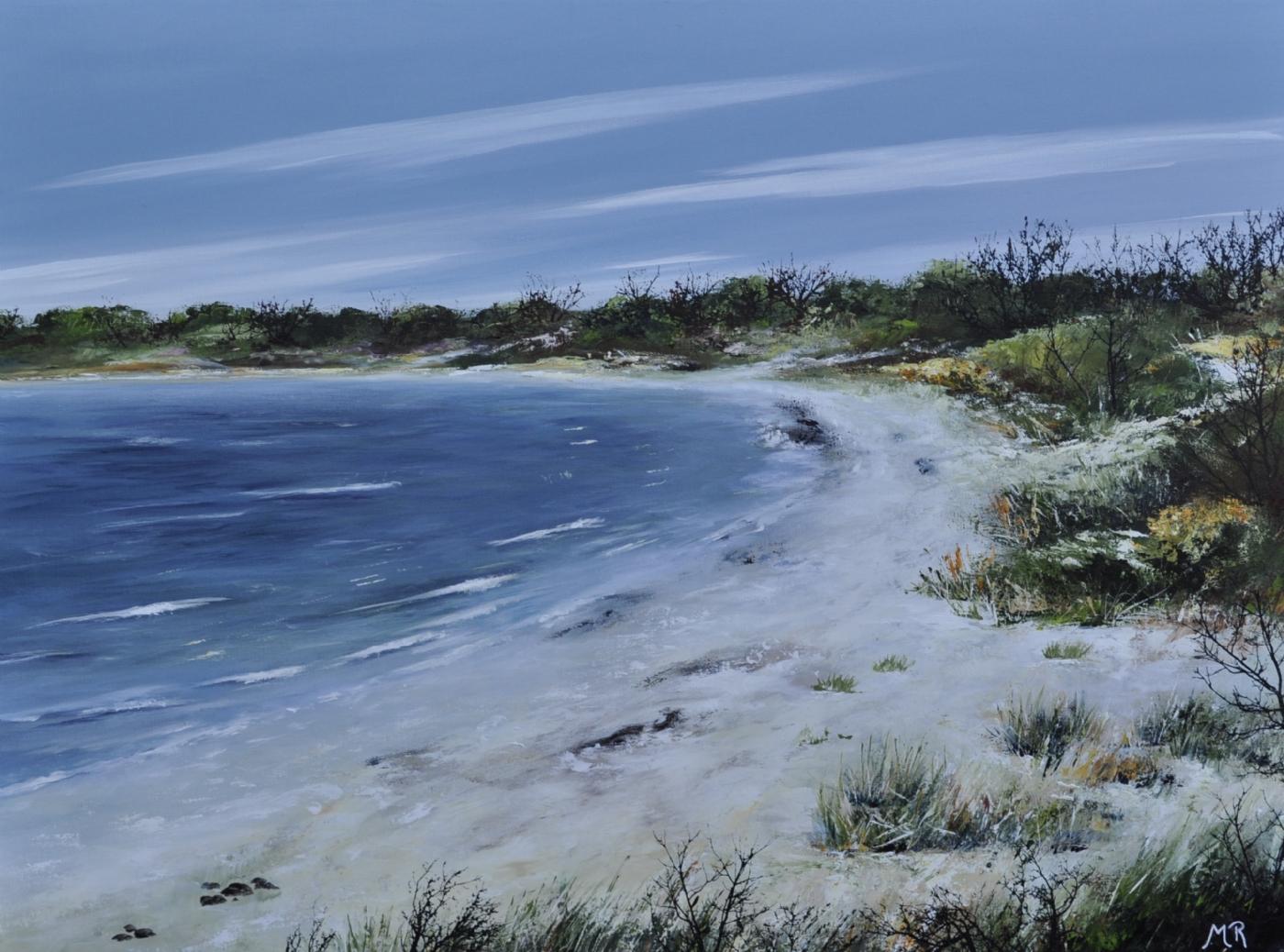 danske strande nr 2   Maleri