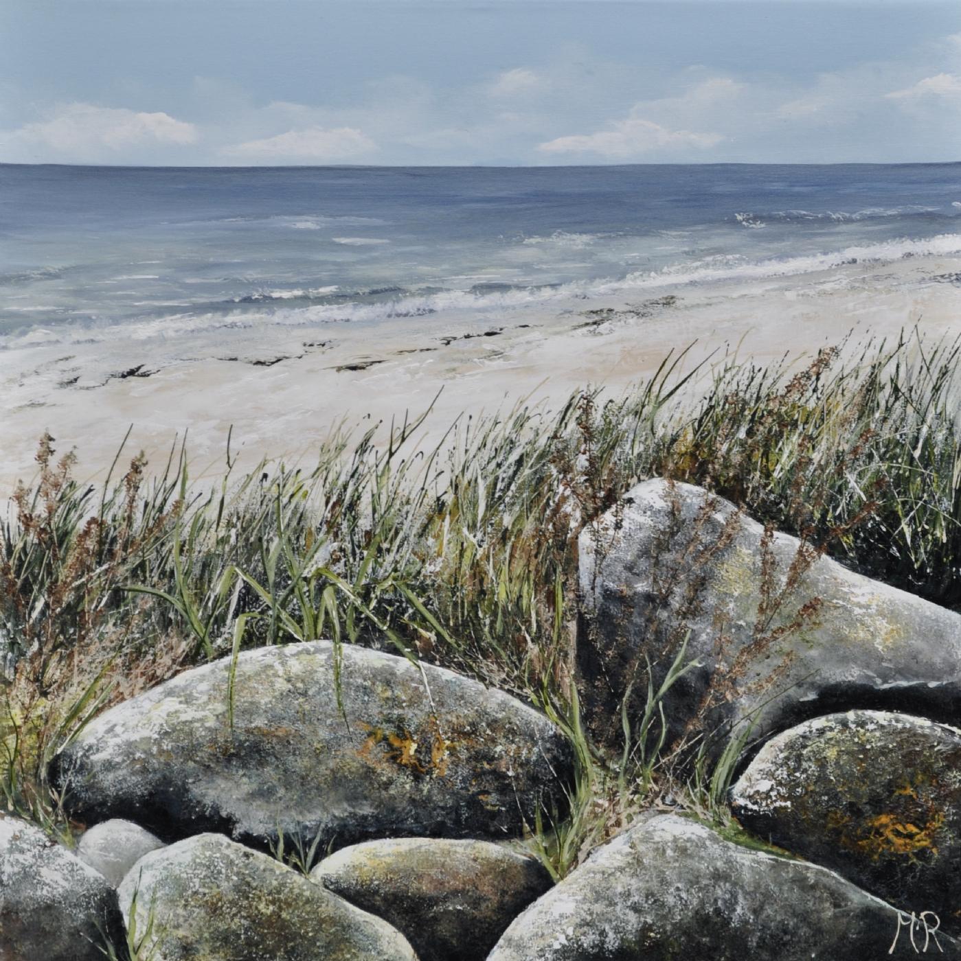 Sten langs vandet nr 2 | Maleri