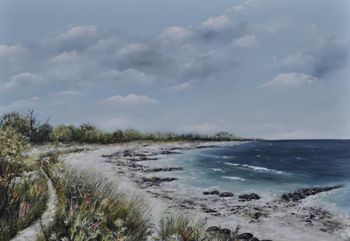 Stien til vandet | Maleri