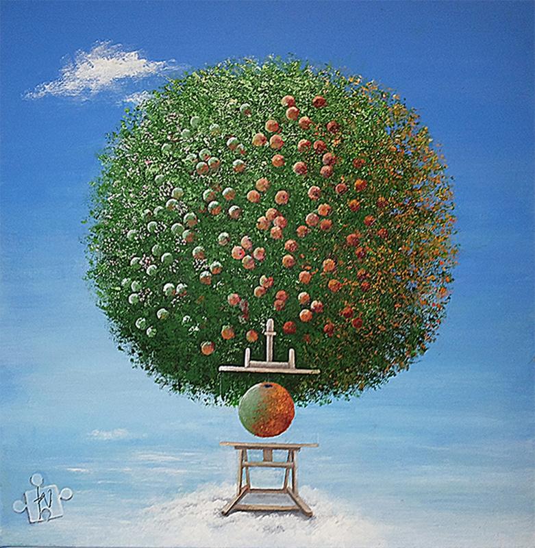 'NEWTONS ÆBLE' | Maleri