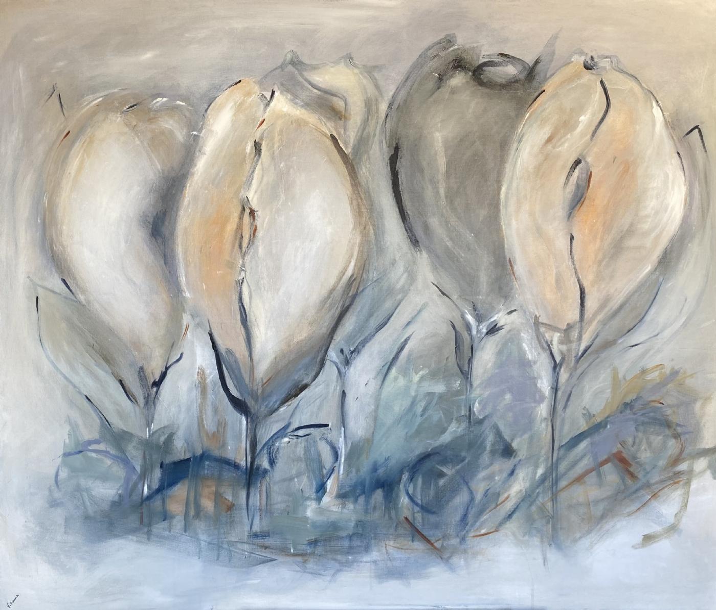 Tulipes sauvages | Maleri