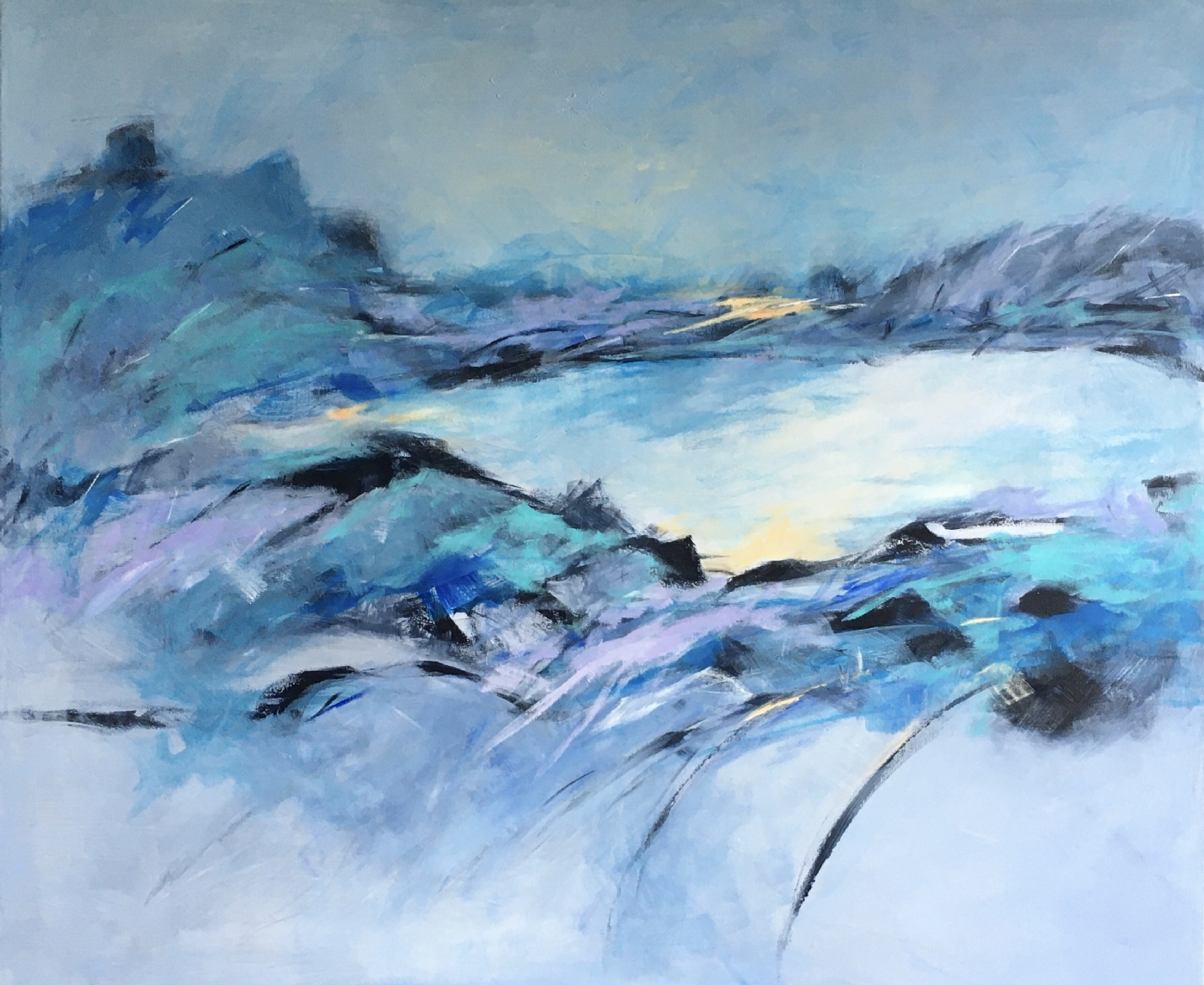 Lac de montagne | Maleri