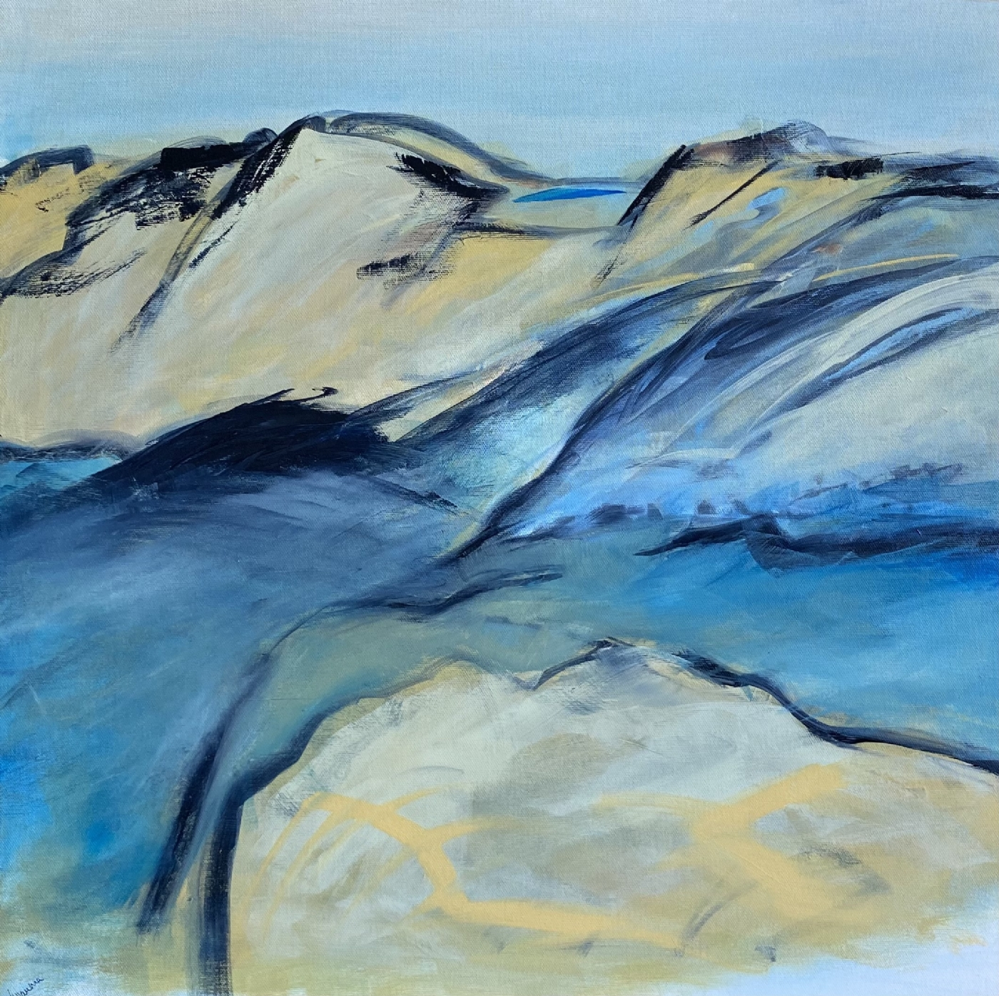 Vallee bleue | Maleri