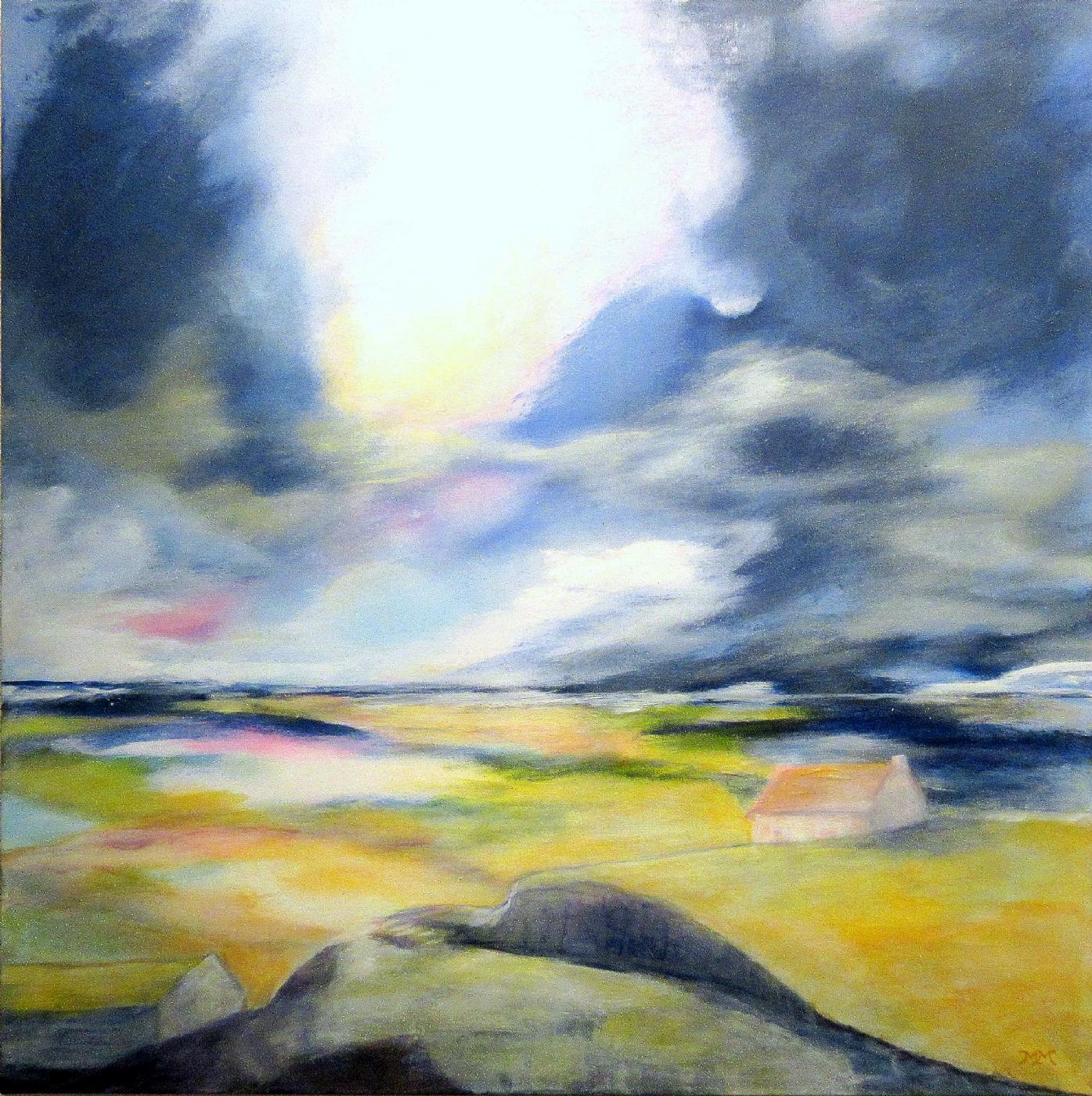 Landscape blue  1   Maleri