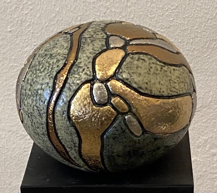 Lille gobbel m. metal   Keramik