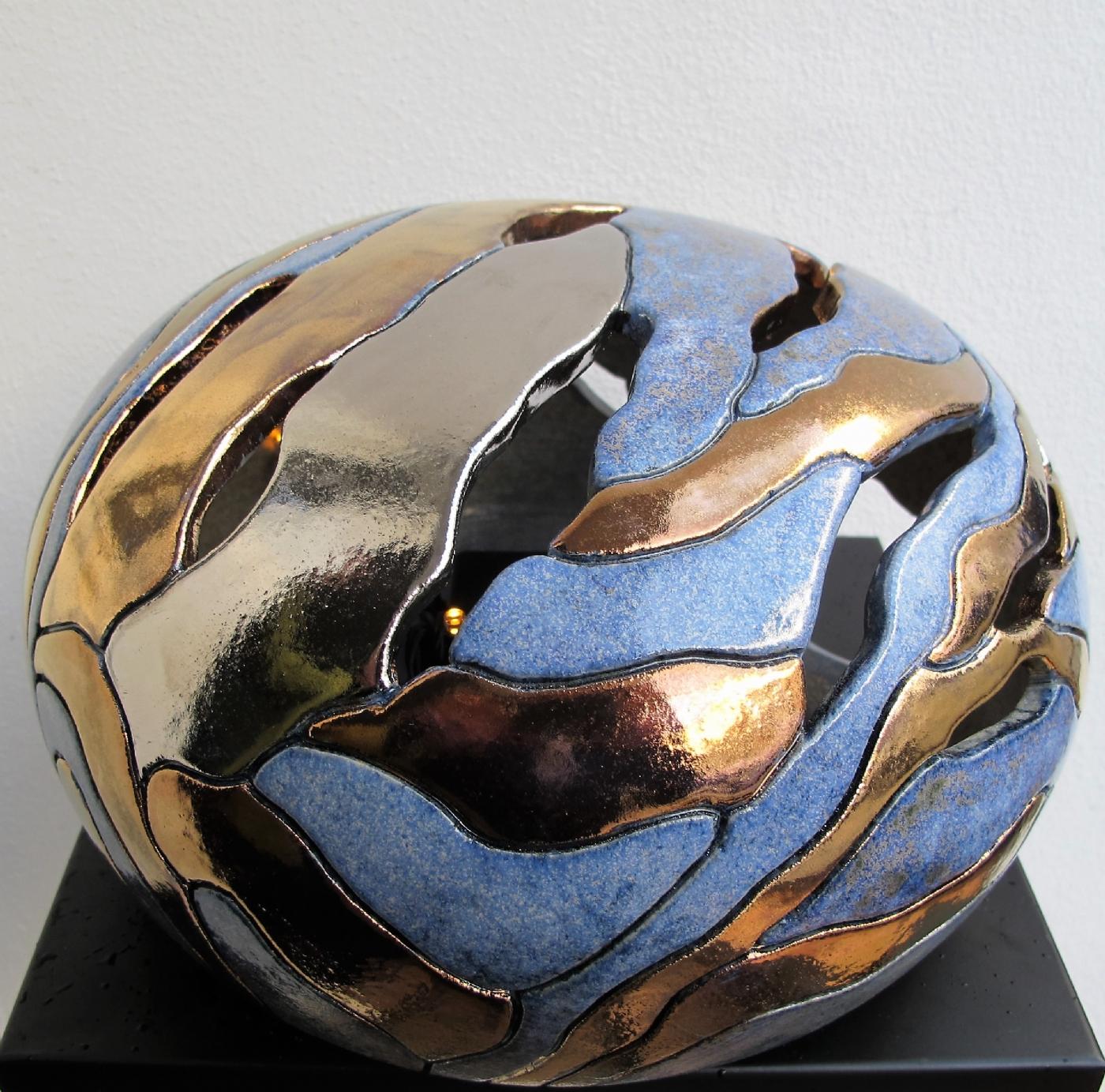 stor gobbel gennembrudt m. metal | Keramik