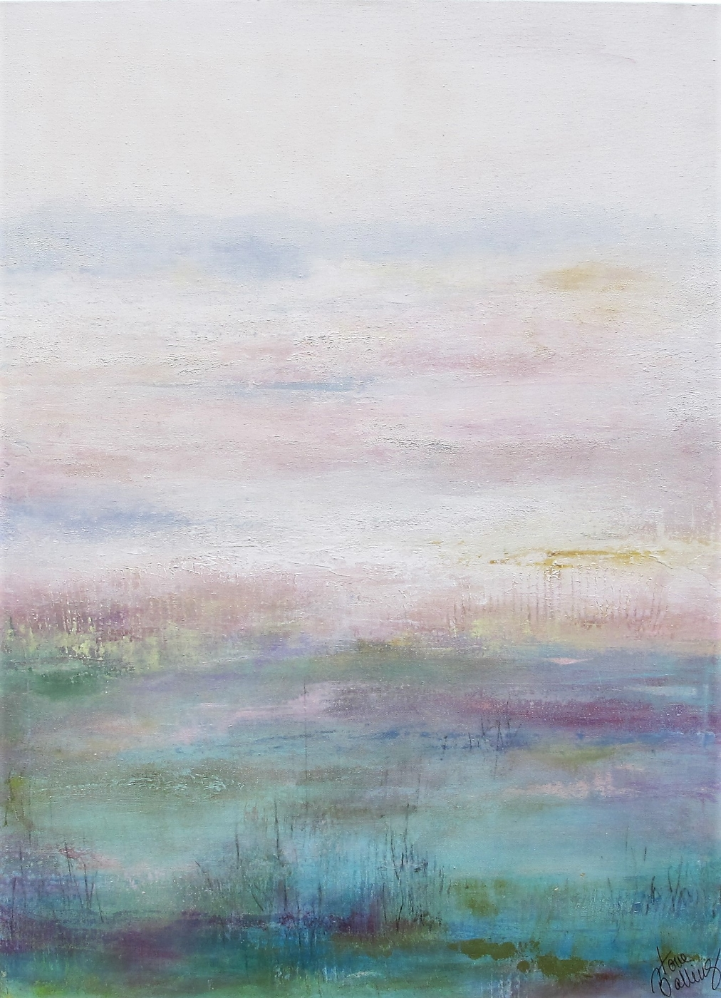 lyst landskab 2 | Maleri