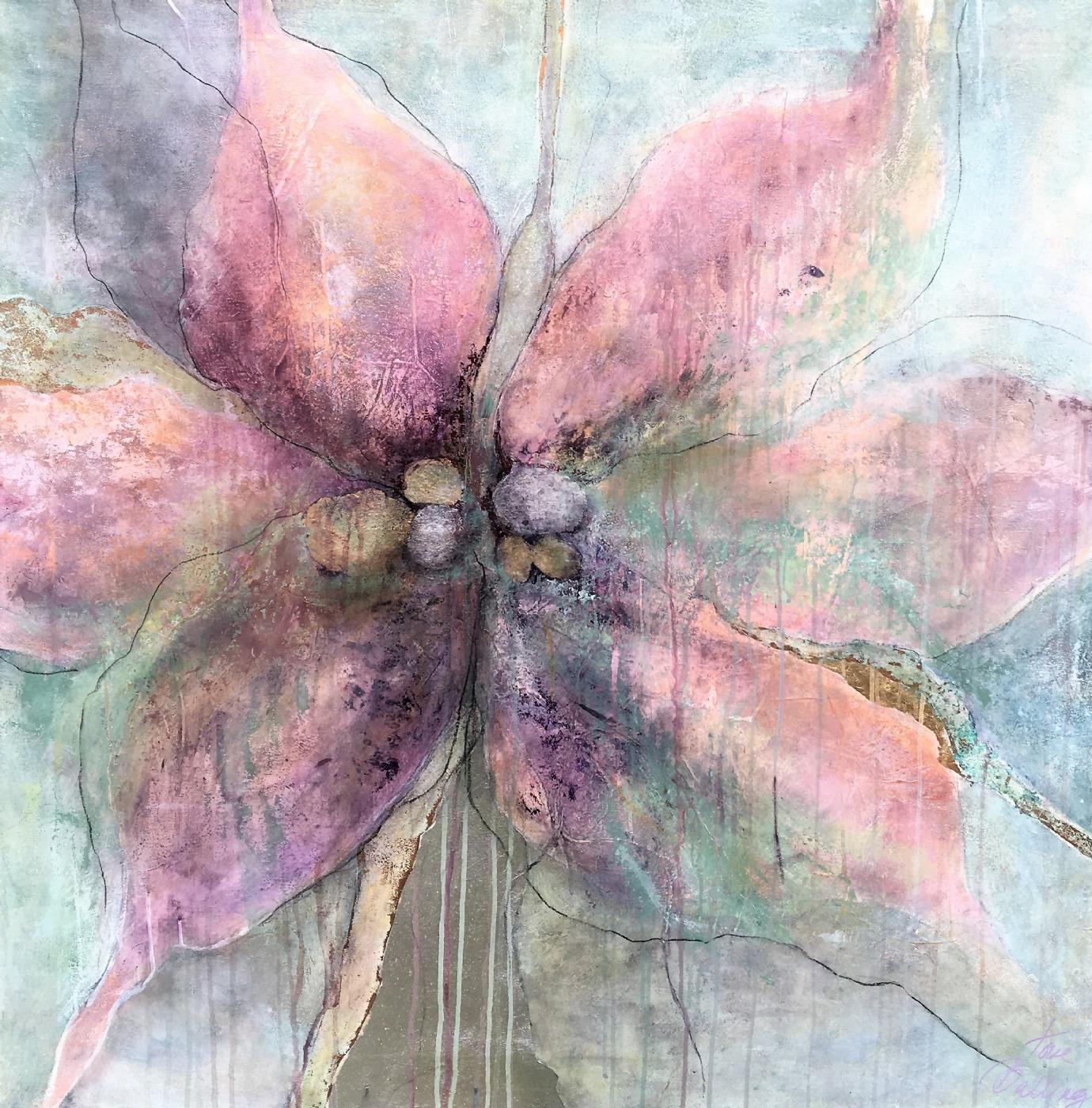 lys blomst   Maleri