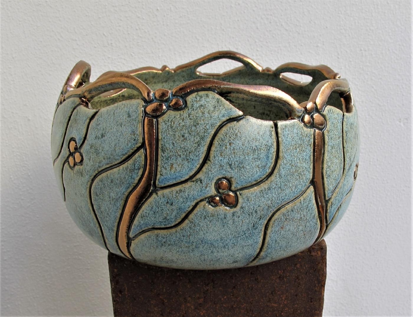 åben mellem gobbel m. brudt kant og metal | Keramik
